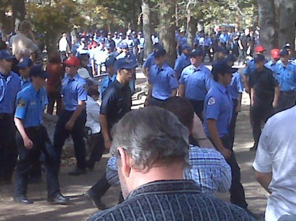 Eric is on the left side marching towards the cadet seating area
