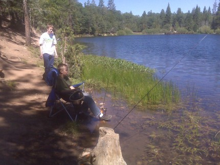 Fishing at Jenks Lake